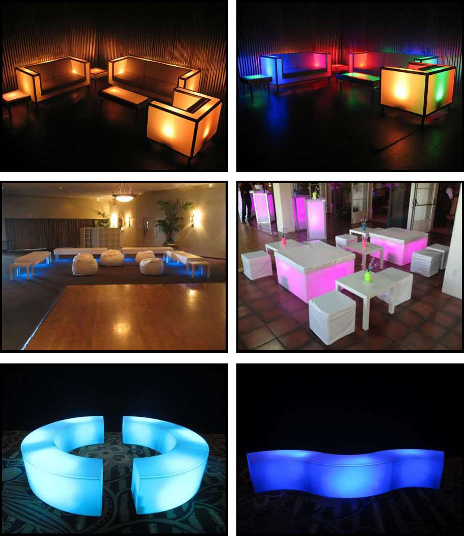 audio video & lighting - glowing furniture