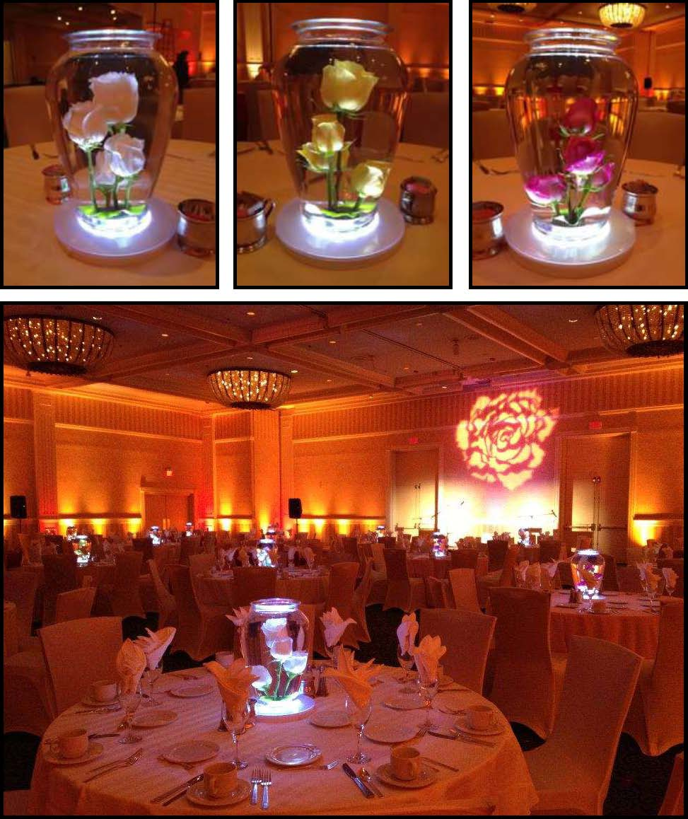audio video & lighting - led centerpieces 10""