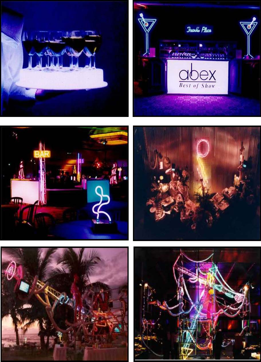 audio video & lighting - neon bars & buffets