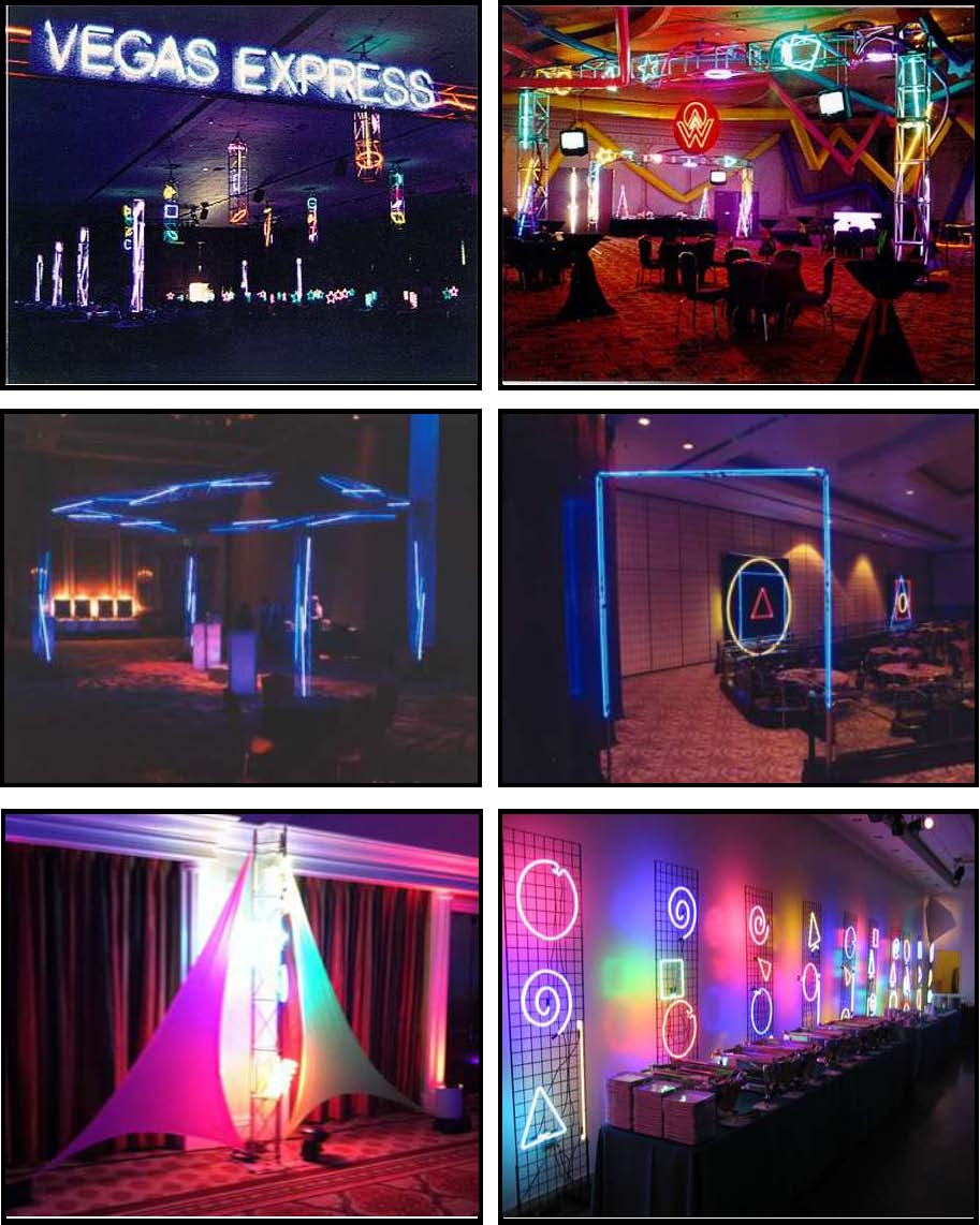 audio video & lighting - neon perimeter lights