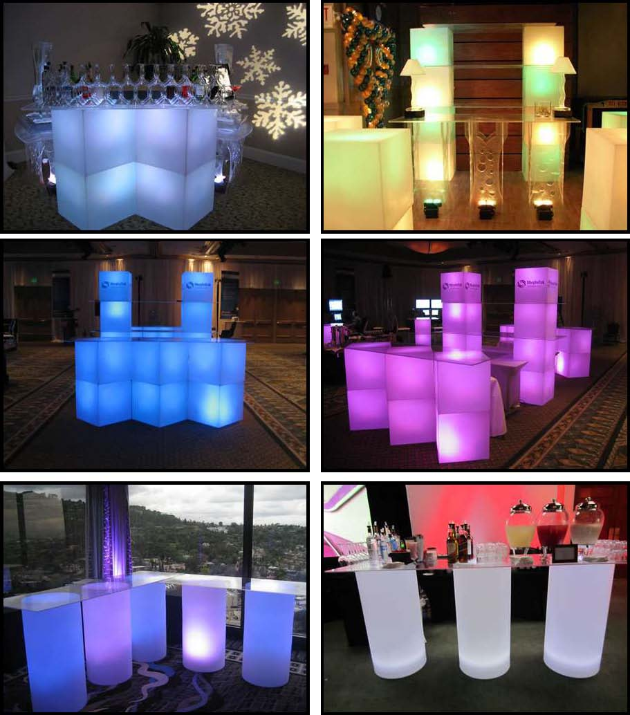 illuminated rotocast bars