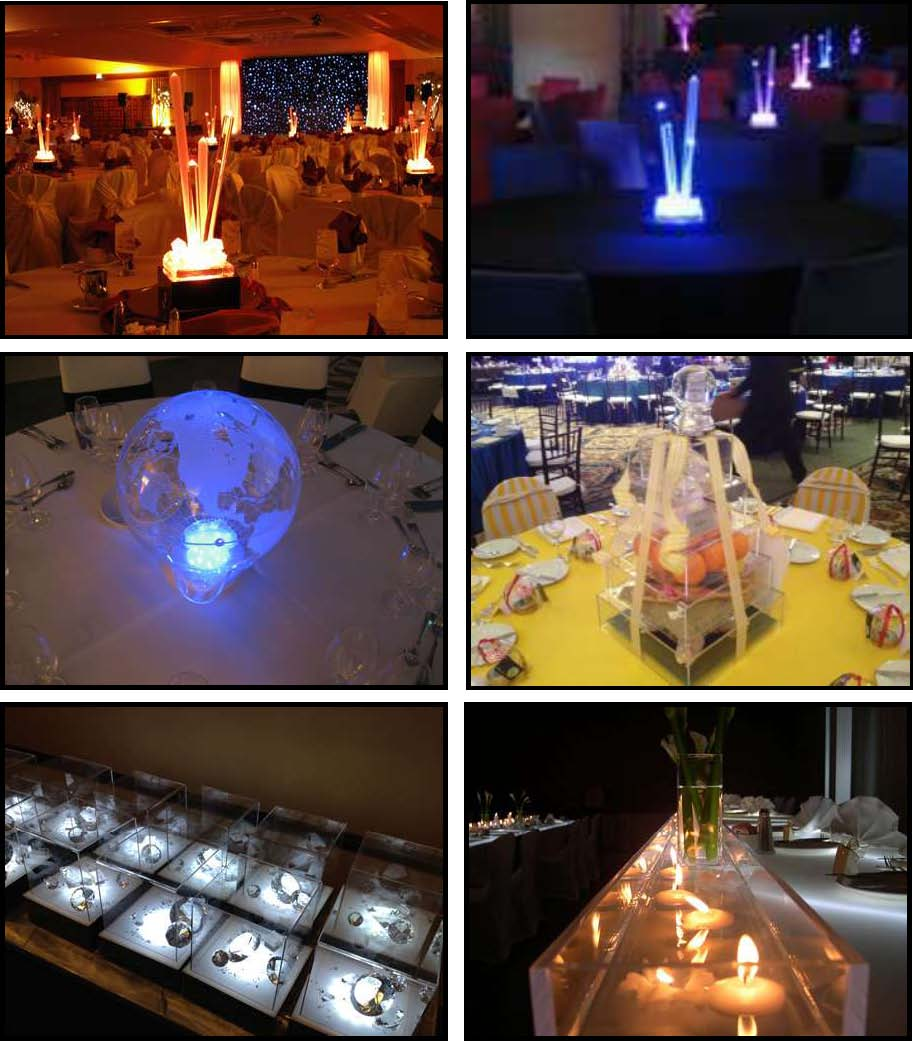 acrylic illuminated centerpieces