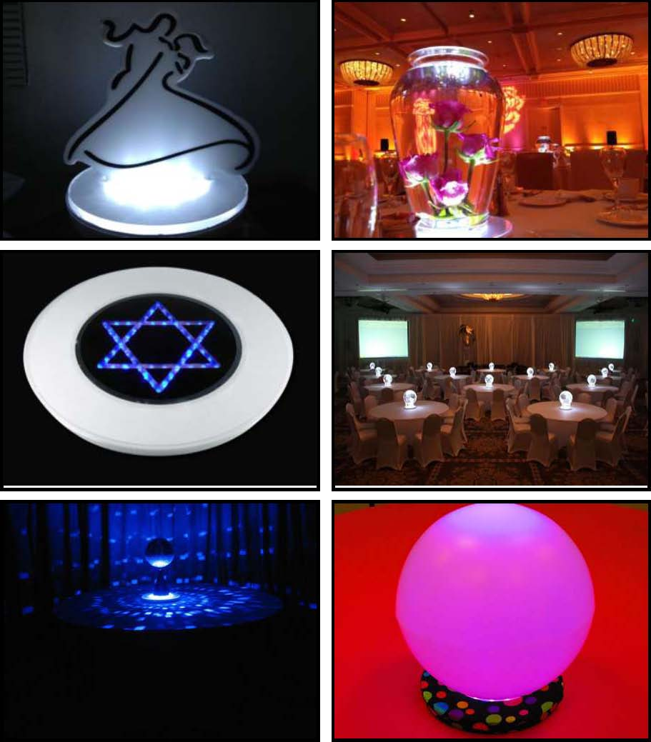 "10"" led illuminated centerpieces"
