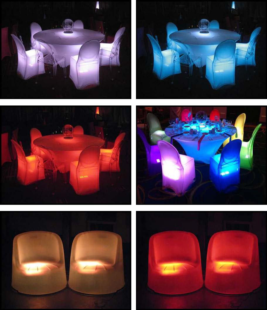 Props & Products Glowing Chairs